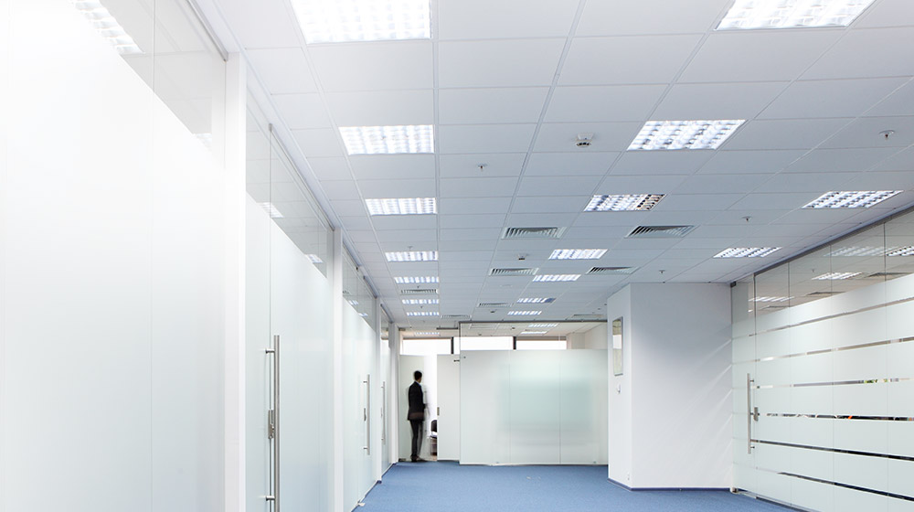 Fluorescent lights office image
