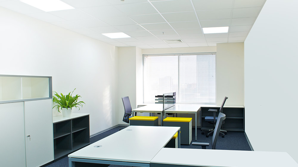 LED recessed lights office image